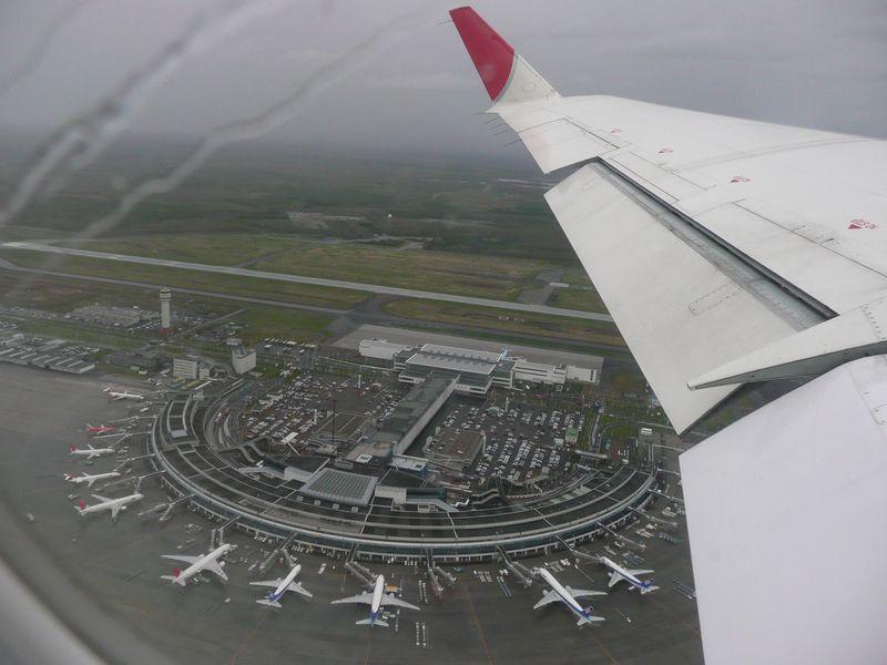 千歳空港上空より